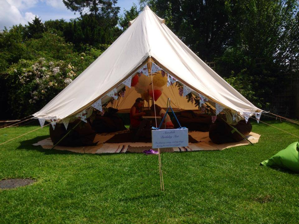 Bell tent entrance face on